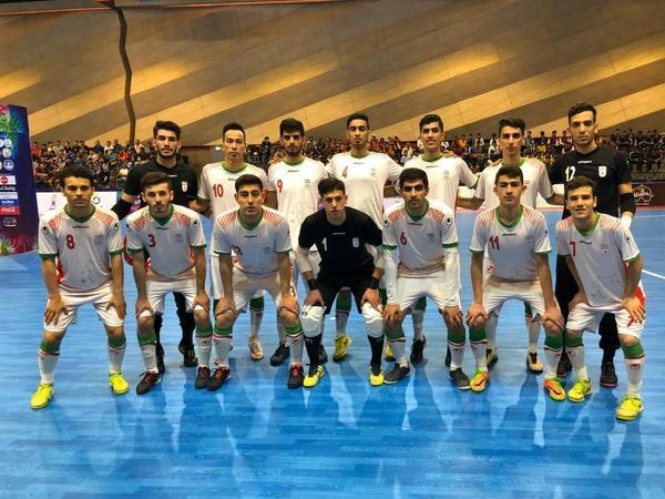 پیروزی تیم فوتسال زیر 20 سال پسران ایران برابر تاجیکستان