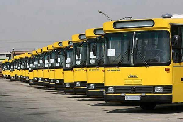 300 اتوبوس شهری در اصفهان زمین گیر شد