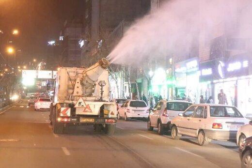 ادامه ضدعفونی مناطق مختلف شهر کرج
