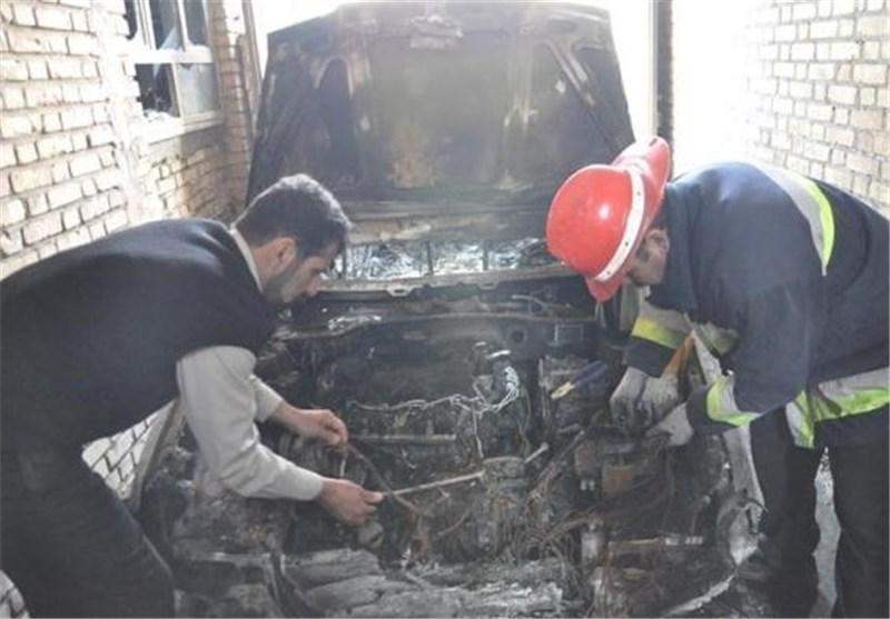 خودروی405 خود و منزل مسکونی را در بجنورد آتش زد