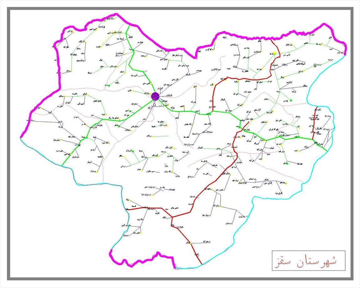 تاریخچه و نقشه جامع شهر سقز در ویکی خبرنگاران