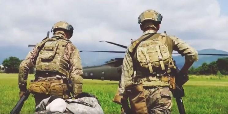 تمرین نیروهای هوابرد آمریکا با ارتش تایوان همزمان با تنش با چین