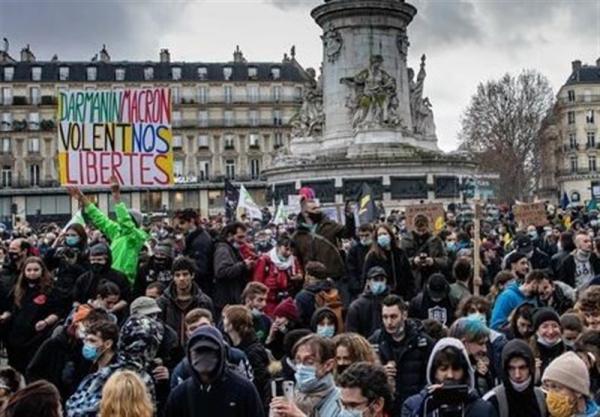 اعتراضات گسترده در فرانسه علیه قانون جنجالی و محدودیت های کرونایی