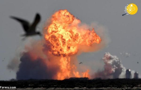(ویدئو) راکت اسپیس ایکس هنگام فرود دوباره منفجر شد
