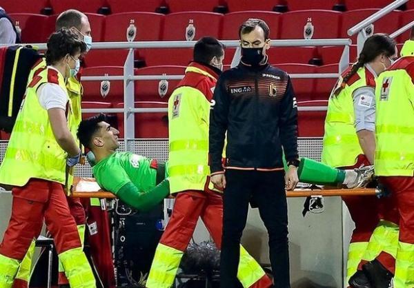مصدومیت بیرانوند جدی نیست، تردید برای بازی در لیگ اروپا